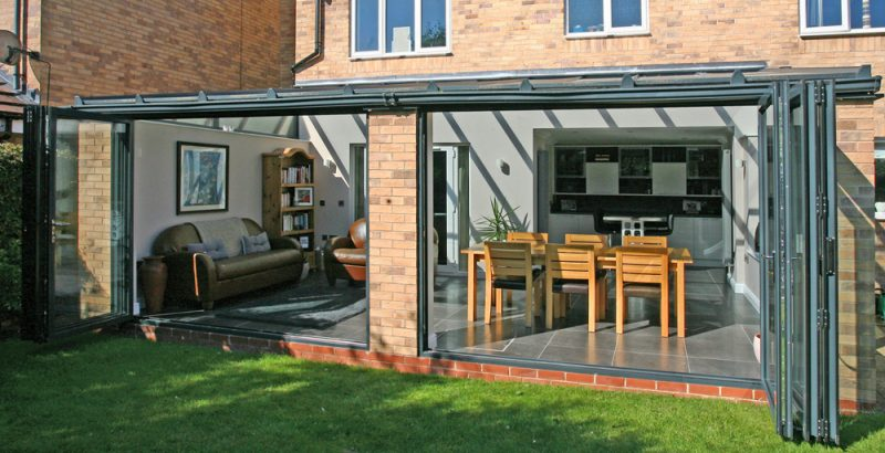 Anthracite grey aluminium bifold doors