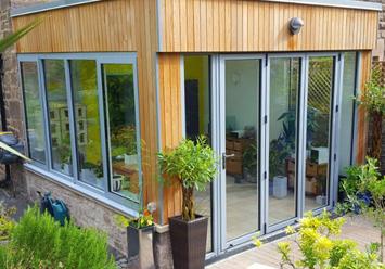 Smart aluminium bifold door and window
