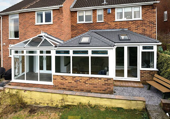 Eurocell Equinox Solid Conservatory Roof Frame Fast Derby